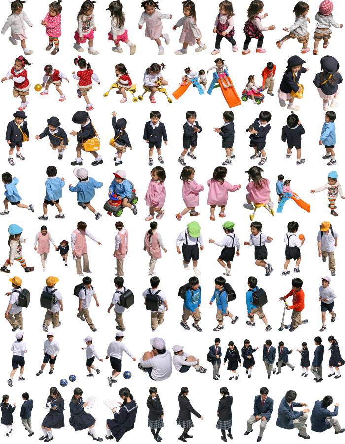 子供鳥瞰SketchUp素材 4l_008 - 画像2