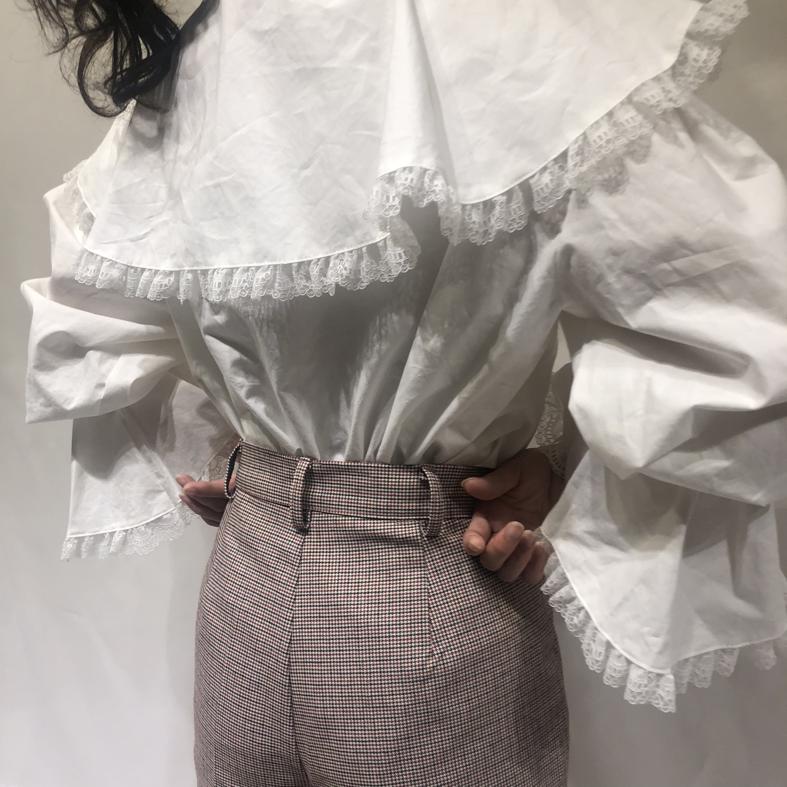 big frill blouse