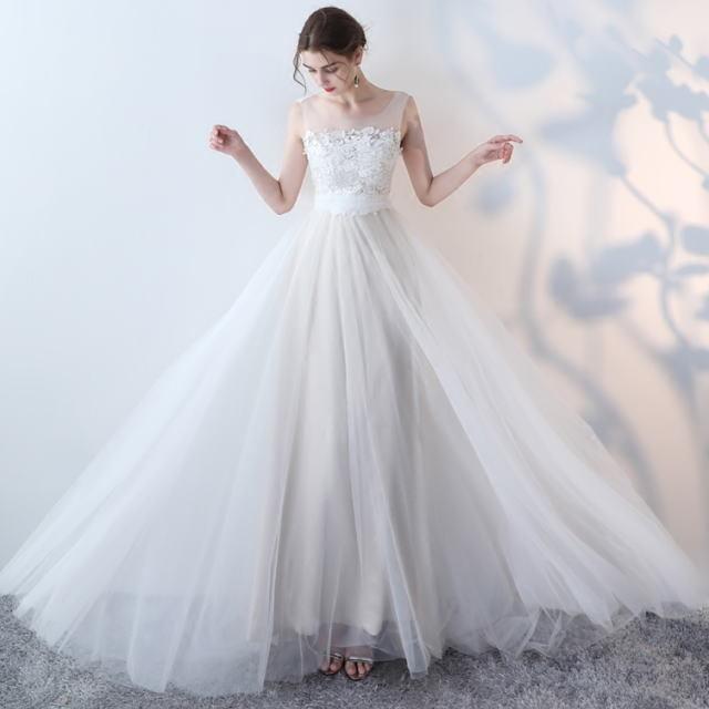 ロングイブニングドレス◆結婚式 パーティードレス