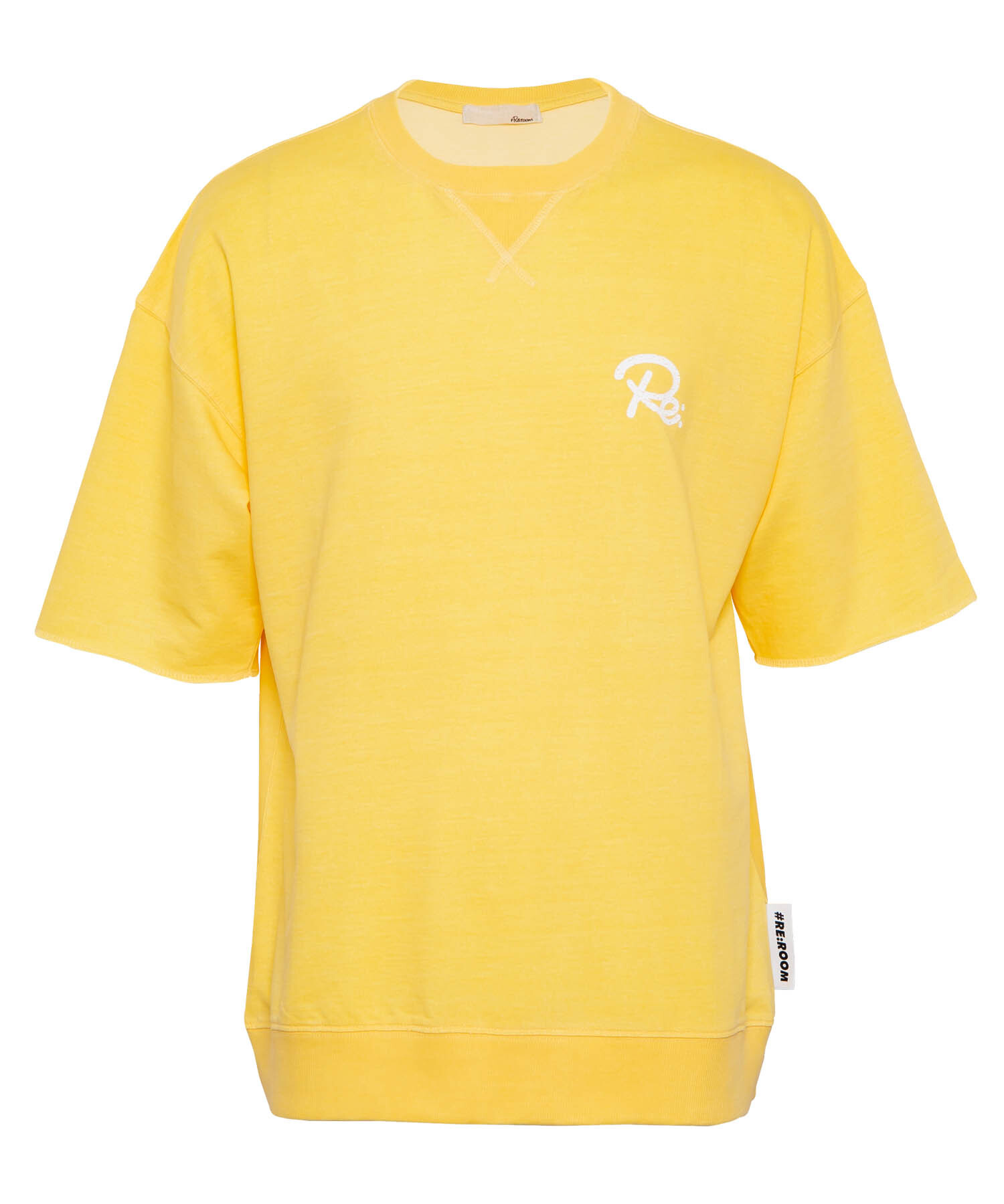 "WASHED VINTAGE SWEAT BIG T-shirt ""Re""[REC383]"
