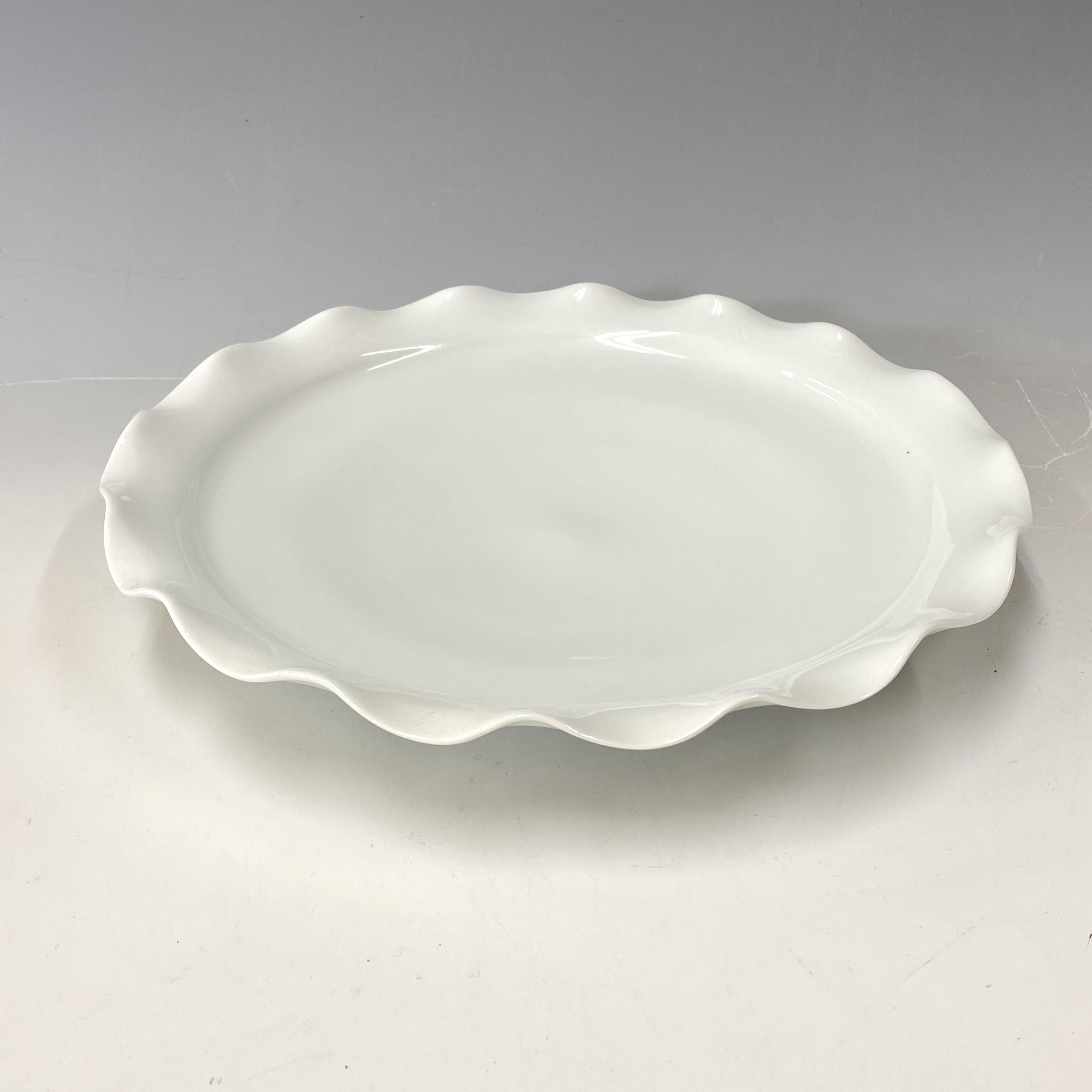 【中尾恭純】白磁ビラ大皿