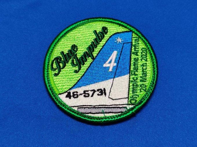 Blue Implse4(緑)パッチ(ベルクロ)