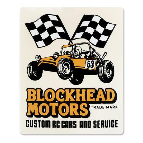 BLOCKHEAD MOTORS レーシングバギー縦長ステッカー