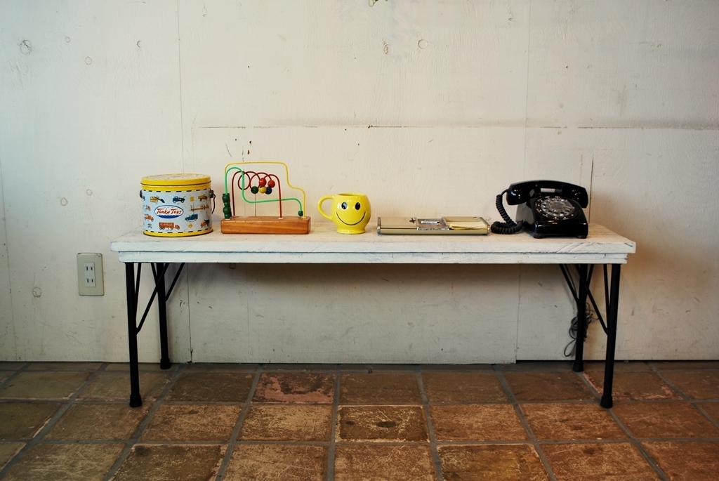 オールドウッドベンチテーブルシャビー