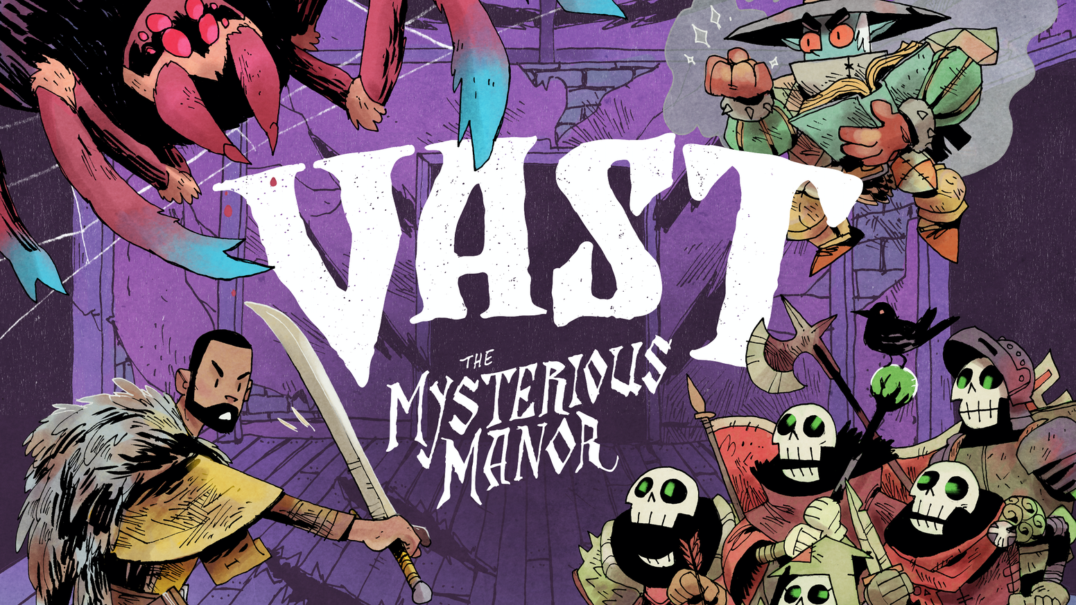 (予約商品:2019年3~4月到着予定)「VAST:The Mysterious Manor(+拡張)」日本語和訳説明書・シール付き