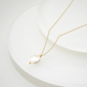 Baroque Coin Pearl Necklace