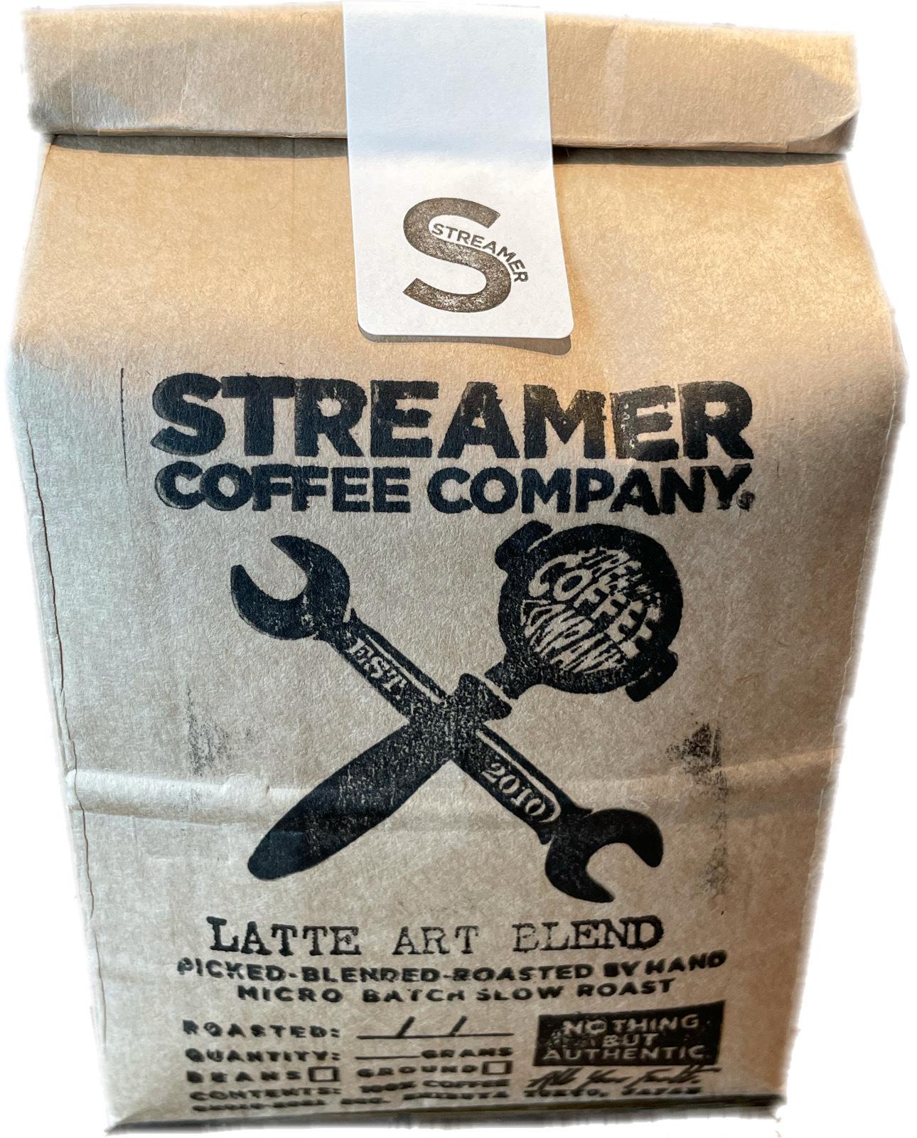 ラテアートブレンド コーヒー LATTE ART BLEND  200g 豆のまま(ブラジル・インドネシア)