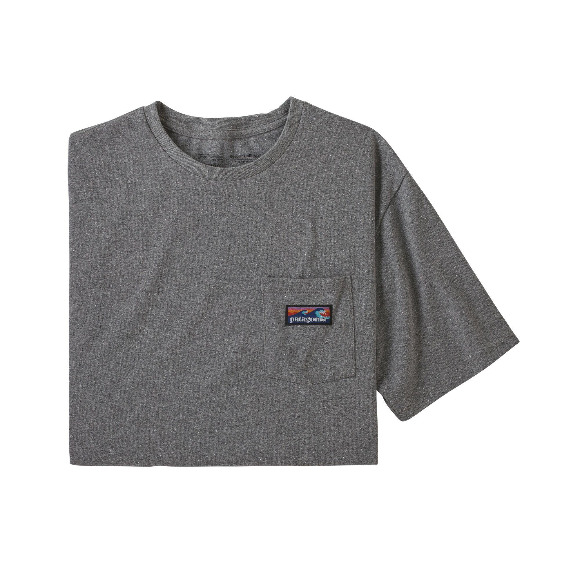 パタゴニア PATAGONIA Tシャツ 半袖 メンズ  ボードショーツ ラベル ポケット レスポンシビリティー 38510 Gravel Heather【正規取扱店】