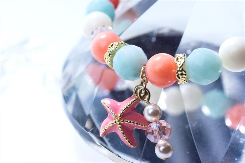 アマゾナイト&Coral sea stone【パワーストーンブレスレット 】 - 画像3