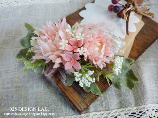 お花の髪飾 / バレッタ(ピンク)