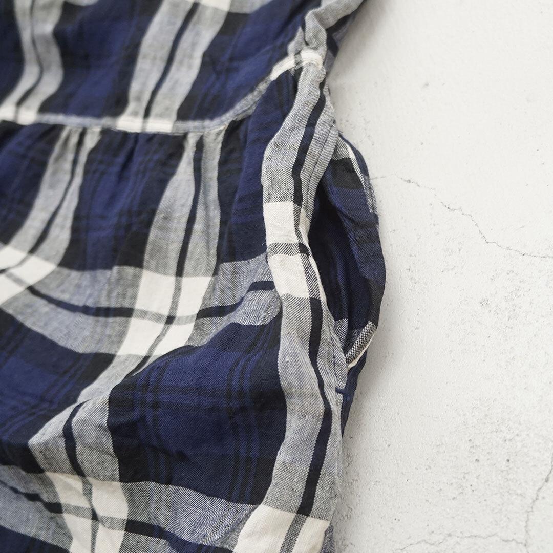 【再入荷なし】 ICHIAntiquites イチアンティークス LINEN TARTAN CHECK DRESS リネンタータンチェックワンピース (品番600318)