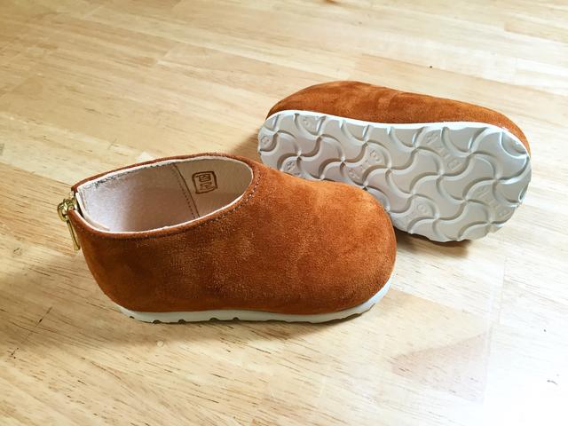 子供靴 バックスキンのRファスナー