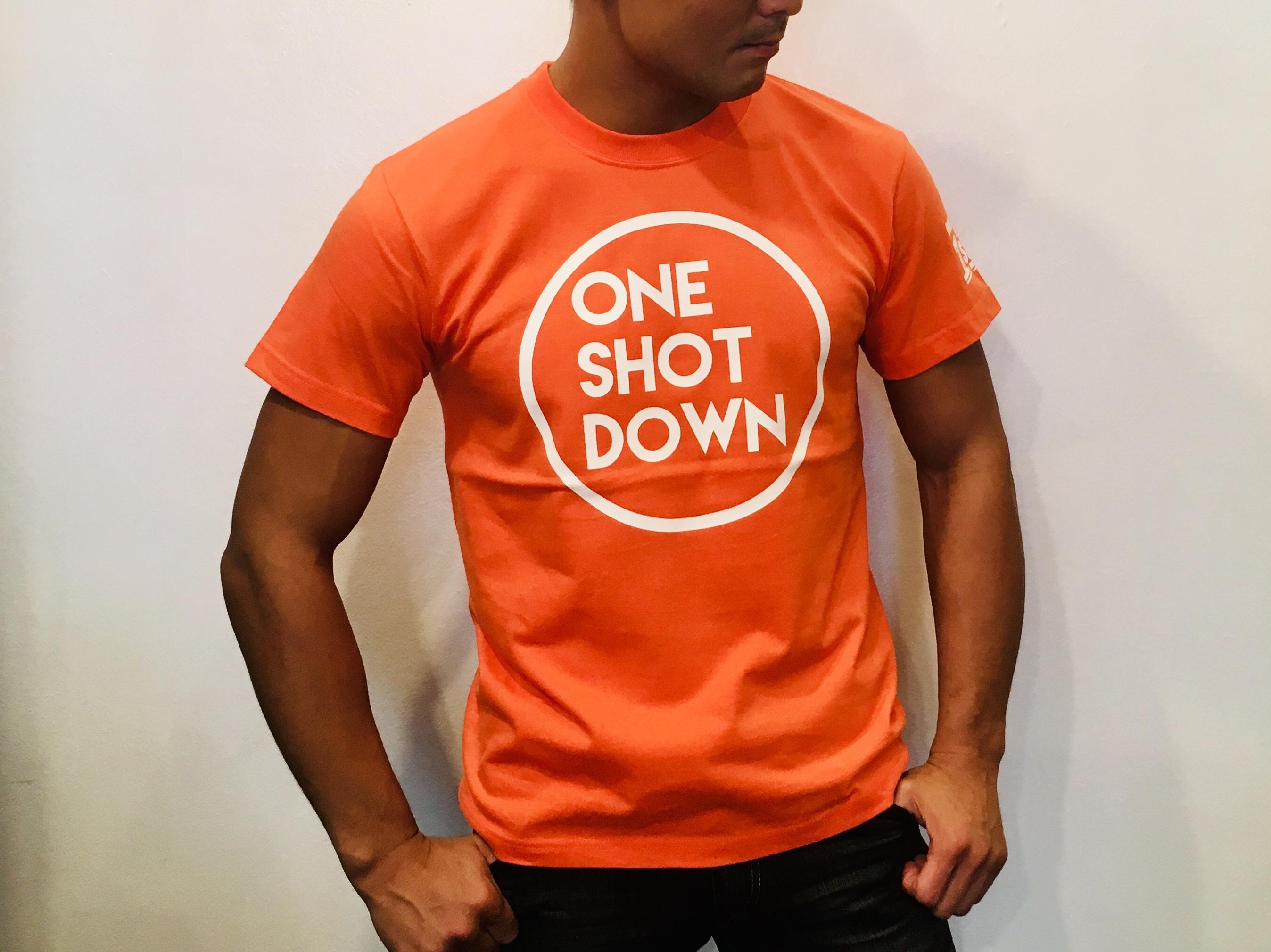 ONESHOTDOWN サークルロゴTシャツ(カラー) - 画像4