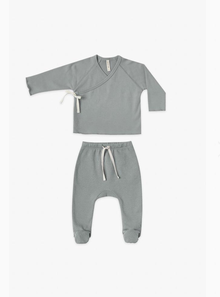 QUINCY MAE クインシーメイ Kimono Top + Footed Pant Set size:6-12M(70-80)