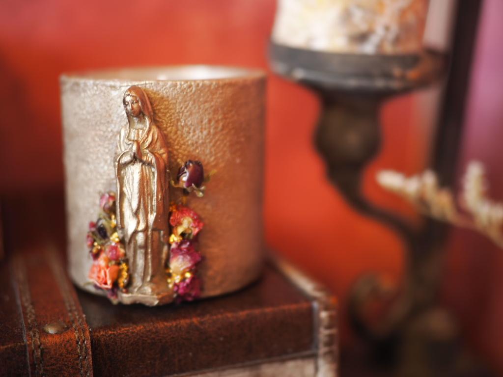 Vintage Maria Candle 1