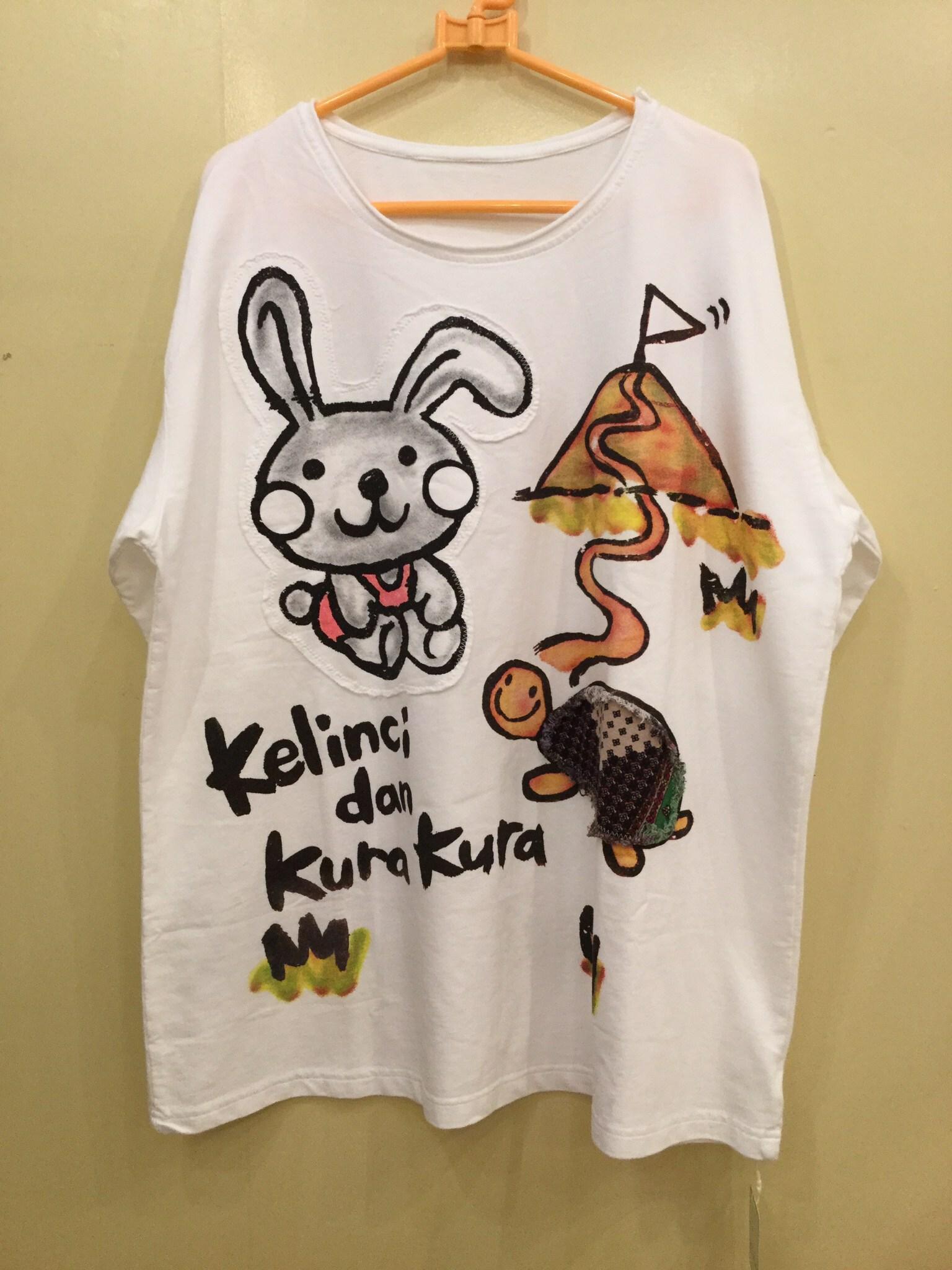 ウサギとカメ BIGサイズTシャツ