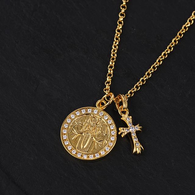 22KGP エンジェルメダル&ベイビーファット チェーンSET