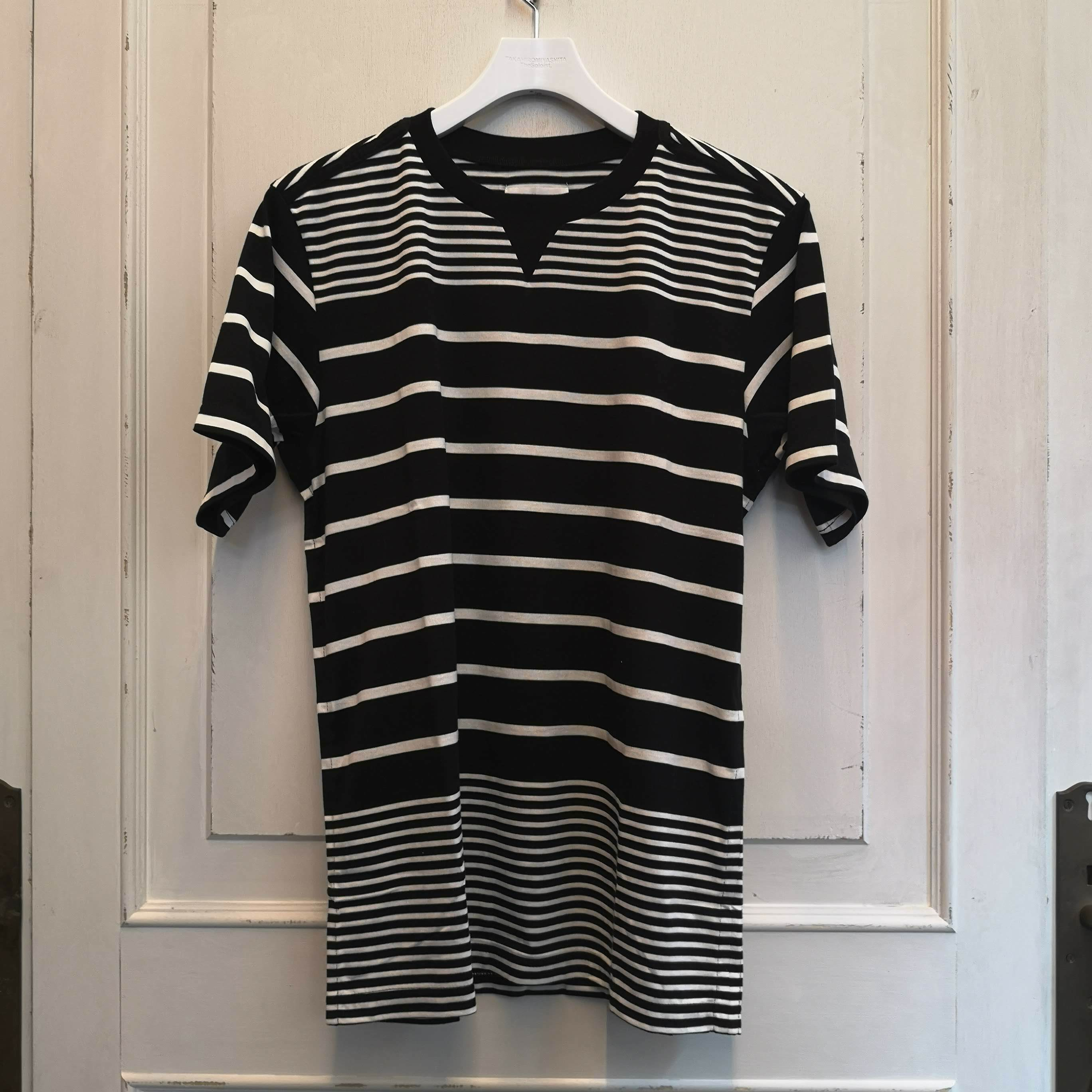 sc.0011bSS19 jimmy stripe crew neck s/s tee.