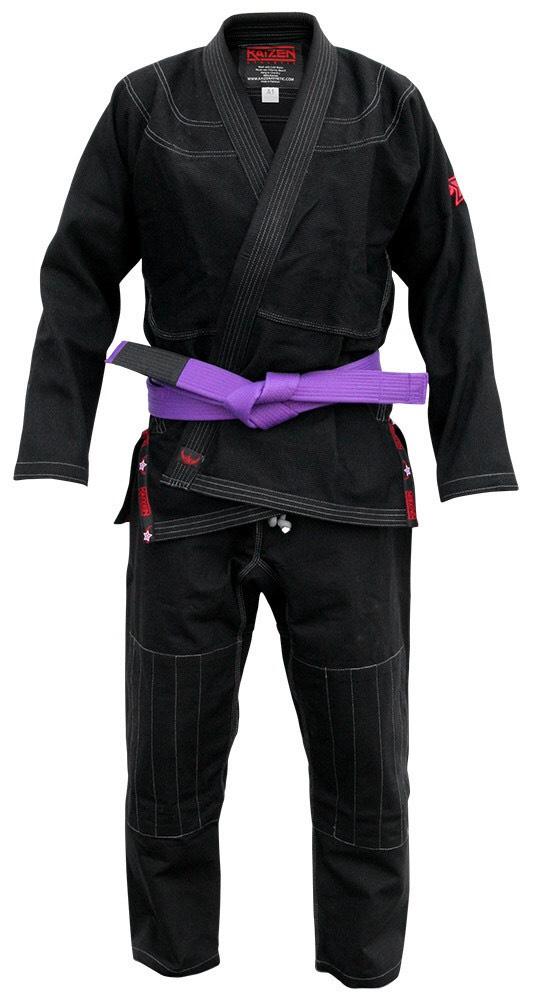 【送料無料】BJJ Kimono - Kaizen Athletic ブラック 【ブラジリアン柔術道衣・柔術道着】