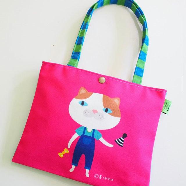 猫 キャンバスバッグ B