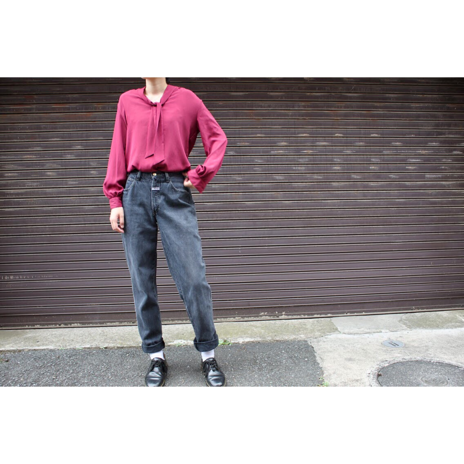 Vintage black denim pants by Marithé François Girbaud