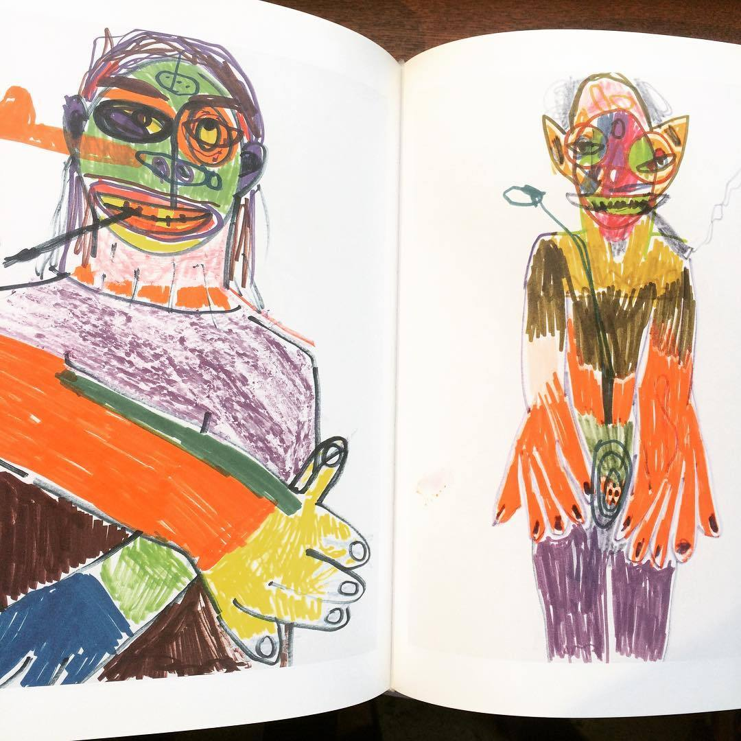 リチャード・プリンス画集「Hippie Drawings/Richard Prince」 - 画像2