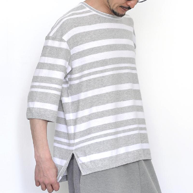 399006_リラックス・ボーダー(グレー×ホワイト)