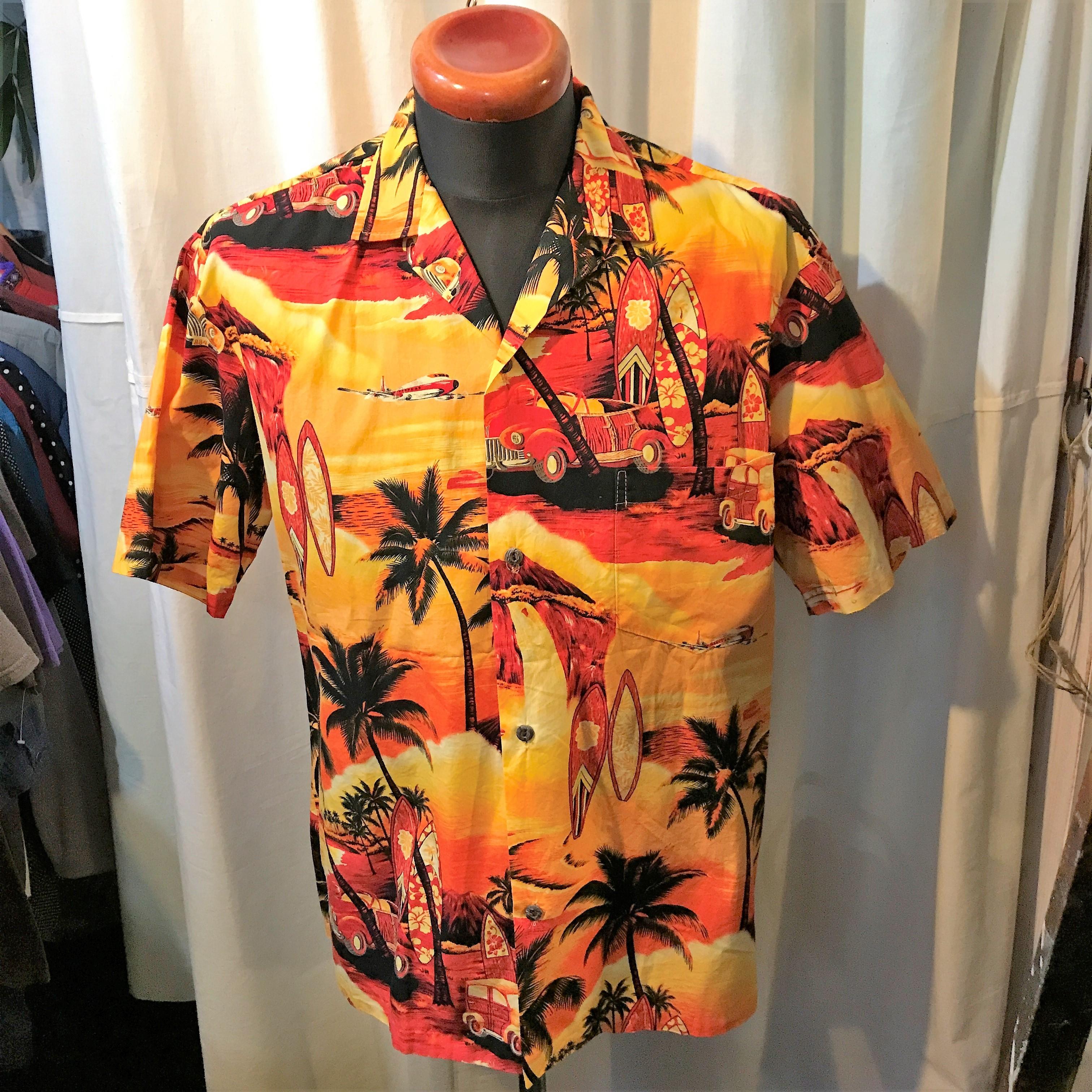 ハワイ製 Royal Creation コットンアロハシャツ ハワイアンシャツ
