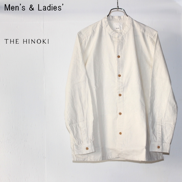 THE HINOKI スタンドアップカラーシャツ Stand Up Collar Shirts (NATURAL)