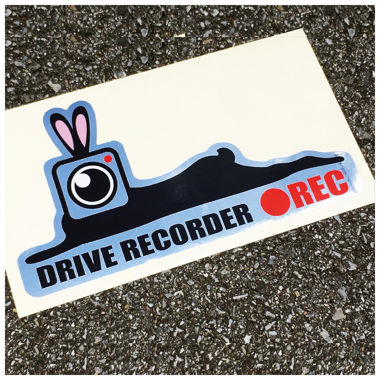 カメラうさぎ ●REC ドライブレコーダーステッカー【大】