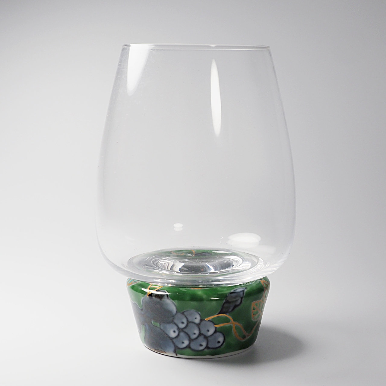 ゆらりんグラス (染錦葡萄グリーン) 20-005-C