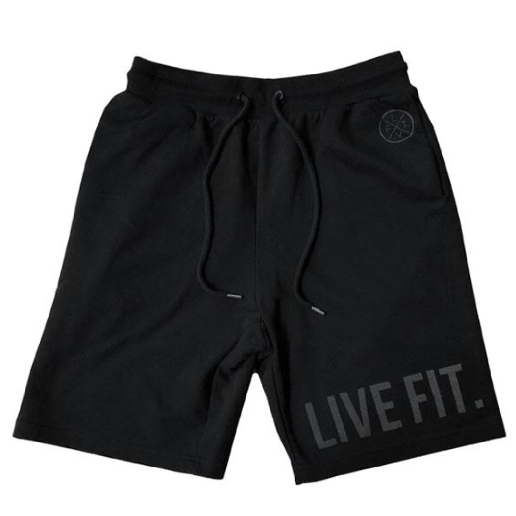 LIVE FIT Athletic Shorts - Black