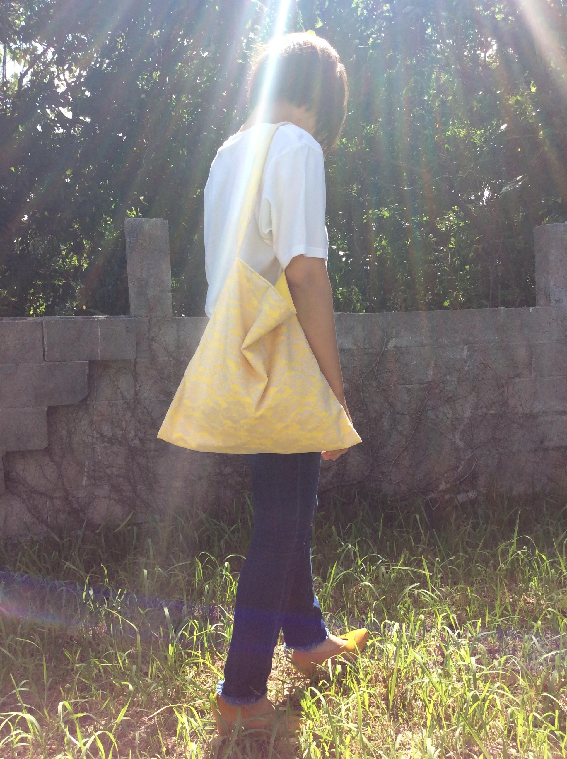 レースと黄色。。ショルダーbag