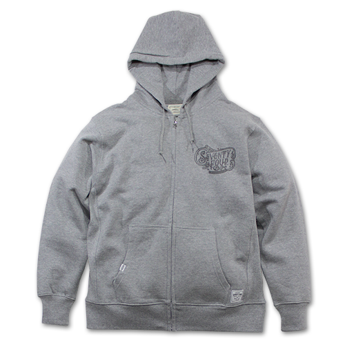 SEVENTY FOUR / ZIP UP SWEAT HOODIE (SIDE RIB)
