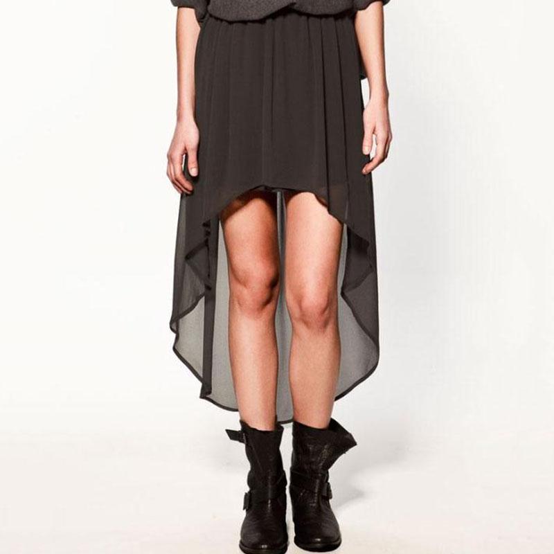 【ボトムス】ファッション無地裾不規則すね丈欧米風スカート
