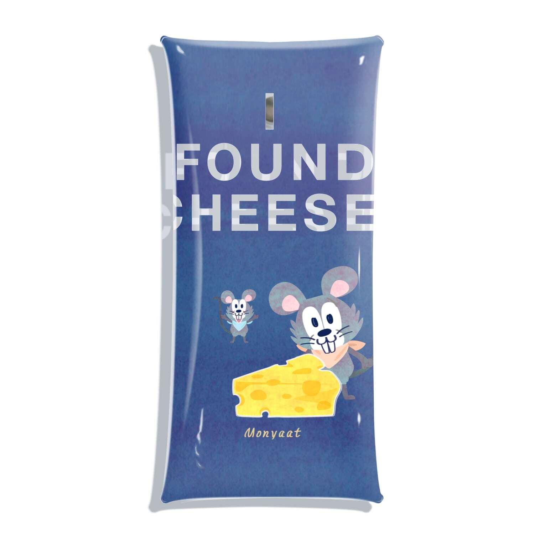 クリアマルチケース*チーズはここに!_あお