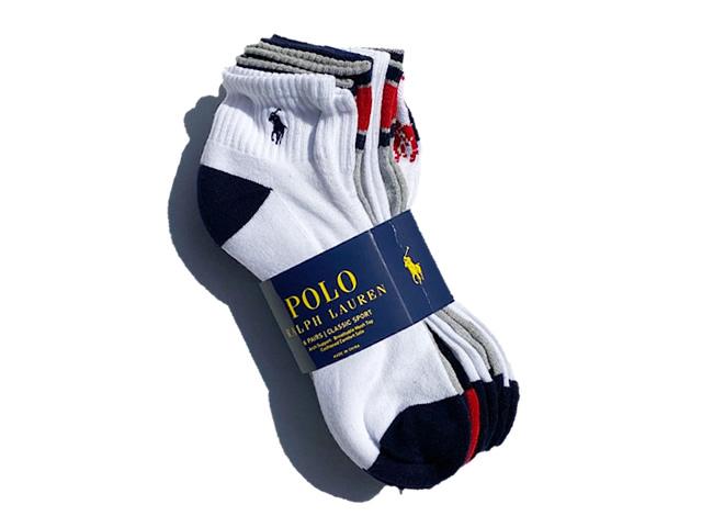 POLO by Ralph Lauren|P67 Logo Flag Socks Short 6-Pack