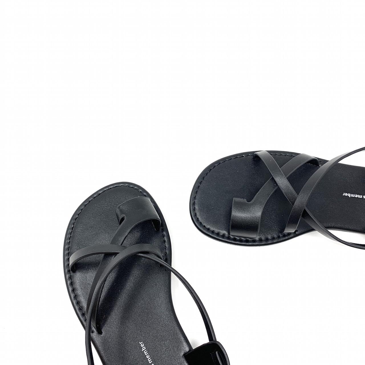 Cross Strap Tong Sandal  |クロスストラップトングサンダル| #kr0030|ブラック