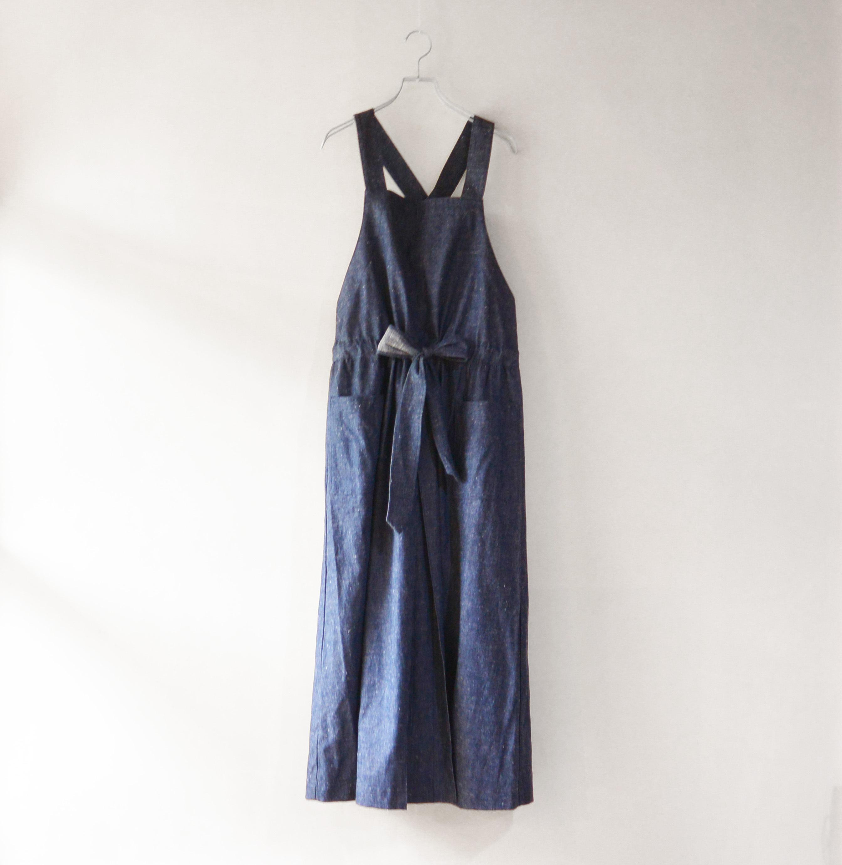 ネップデニムジャンパースカート