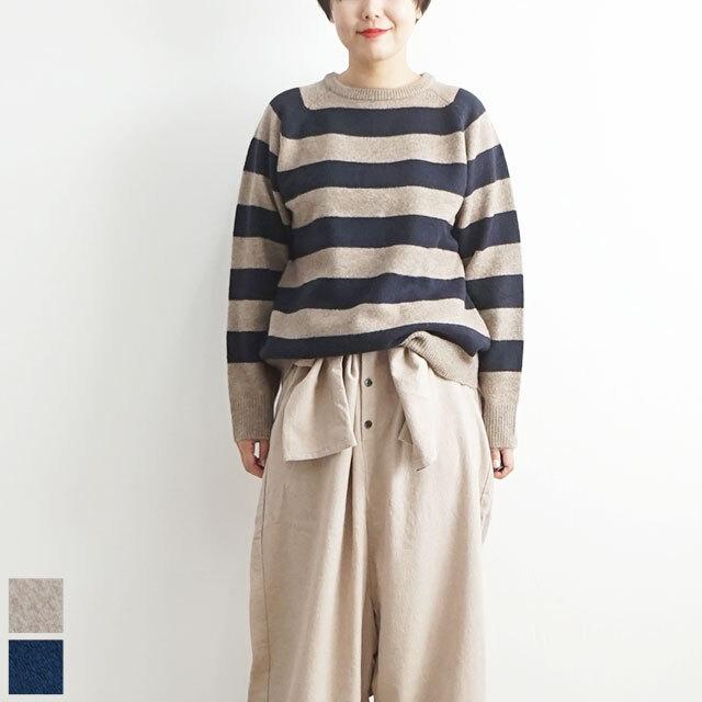 ichi イチ ボーダーニットクルー   (品番190667)