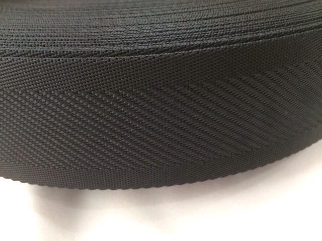 ナイロンテープ 中綾織 25mm幅 1.5mm厚 黒 1m単位