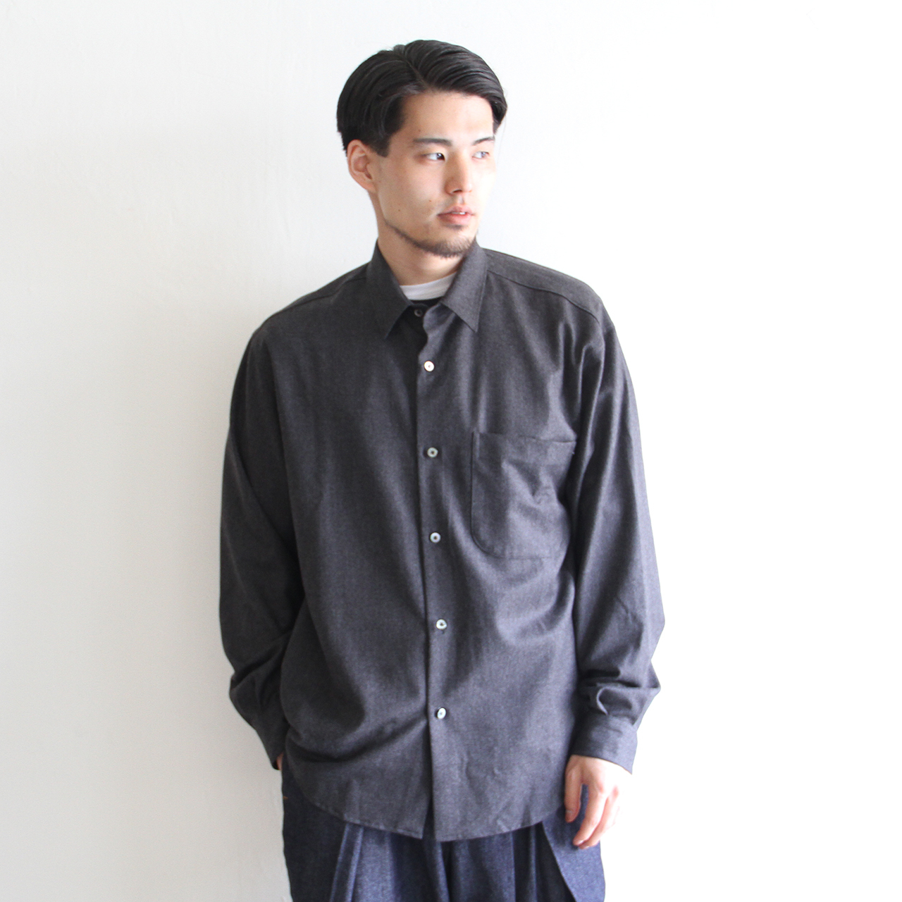 LAMOND【 mens 】saxony bold shirts jacket
