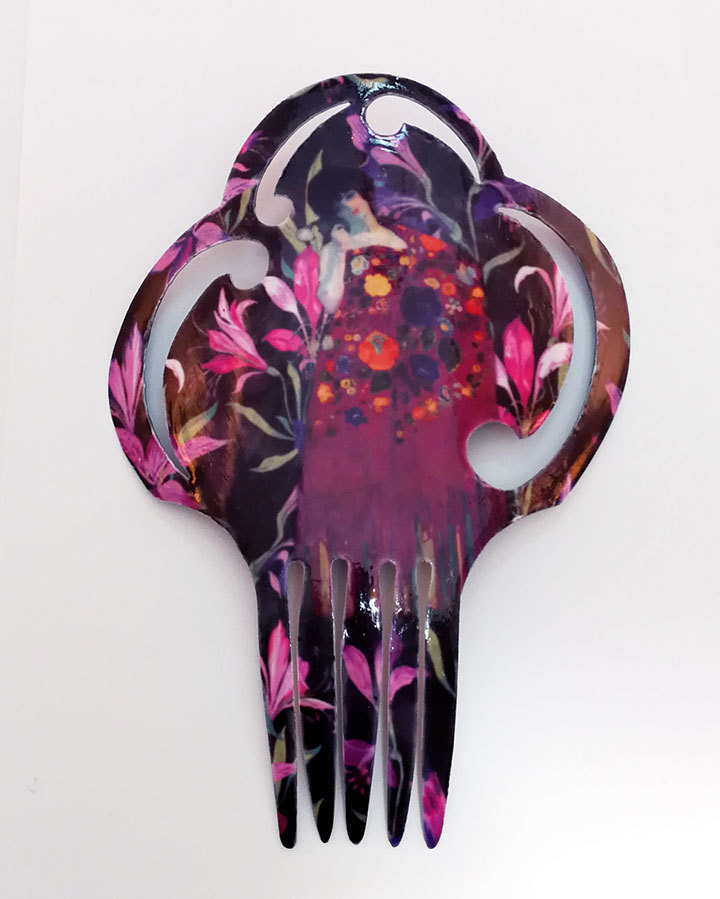 FE-Pn-GE_TropicoMorado ペイネタG・スペシャル トロピカル柄・紫系  スペイン製