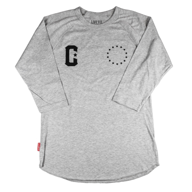 LIVE FIT Premium Raglan - Heather Grey