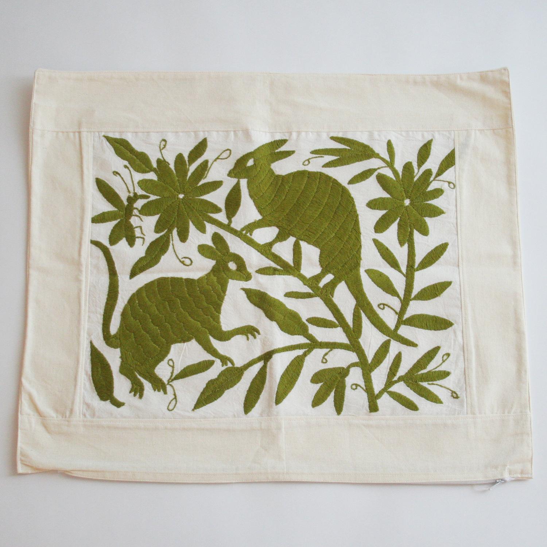 オトミ族刺繍クッションカバー/103/MEXICO