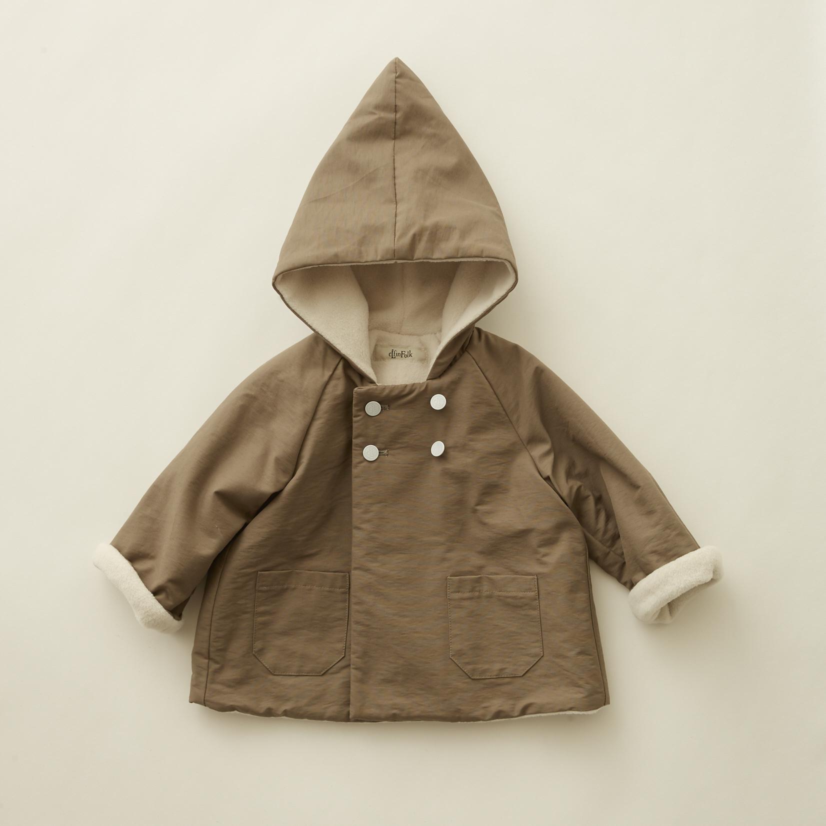 《eLfinFolk 2020AW》elf coat / mocha / 110-130cm