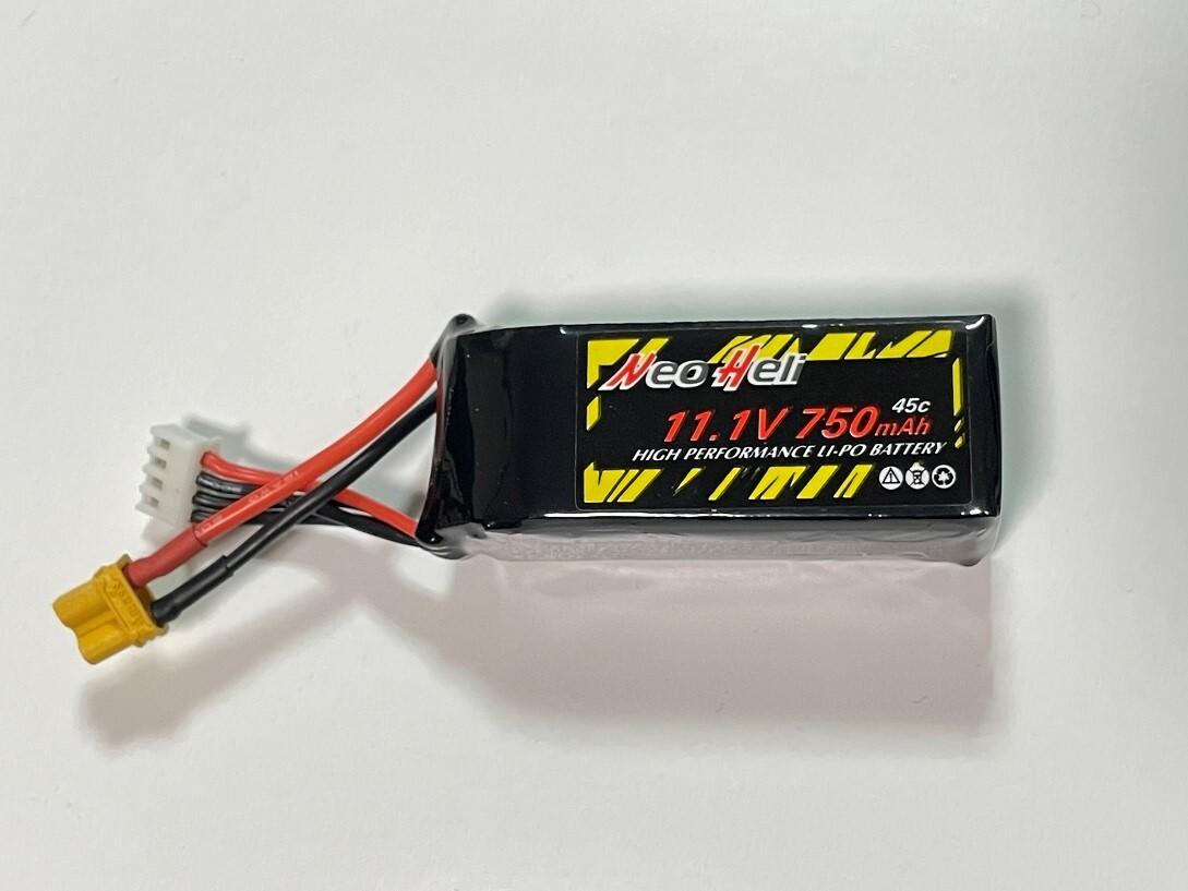 NEW 750mAh / M2リポお試し特価◆M2 V2&EXPヘリ専用NeoHeliオリジナルバッテリー 11.1V750mAh45C