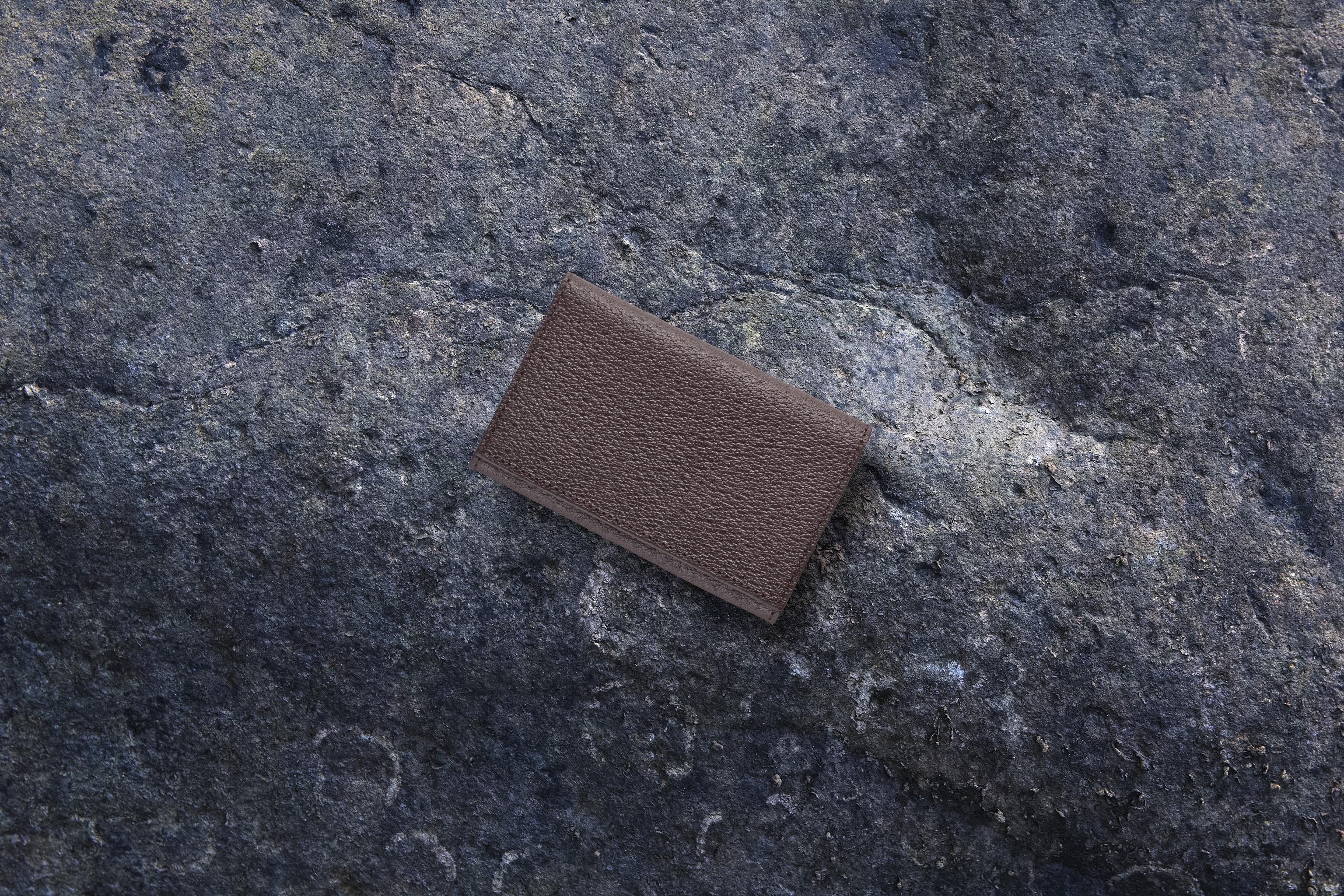 【国産イノシシ革】カードケース Brown【STY original model】