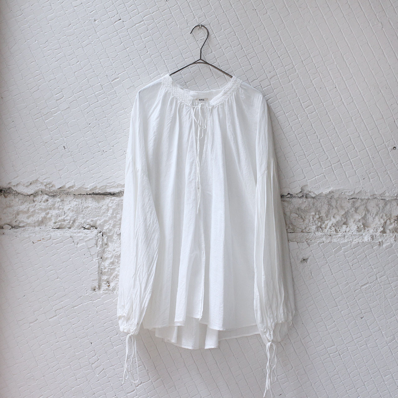 【nowos】GATHER BLOUSE