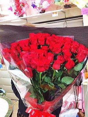 bu013 花束 赤バラ